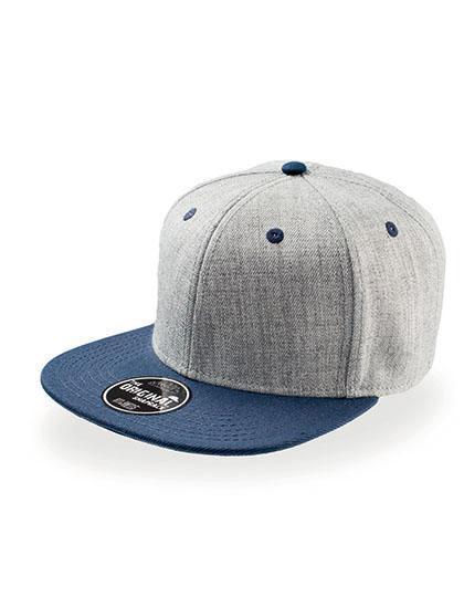 Szara czapka z niebieskim daszkiem